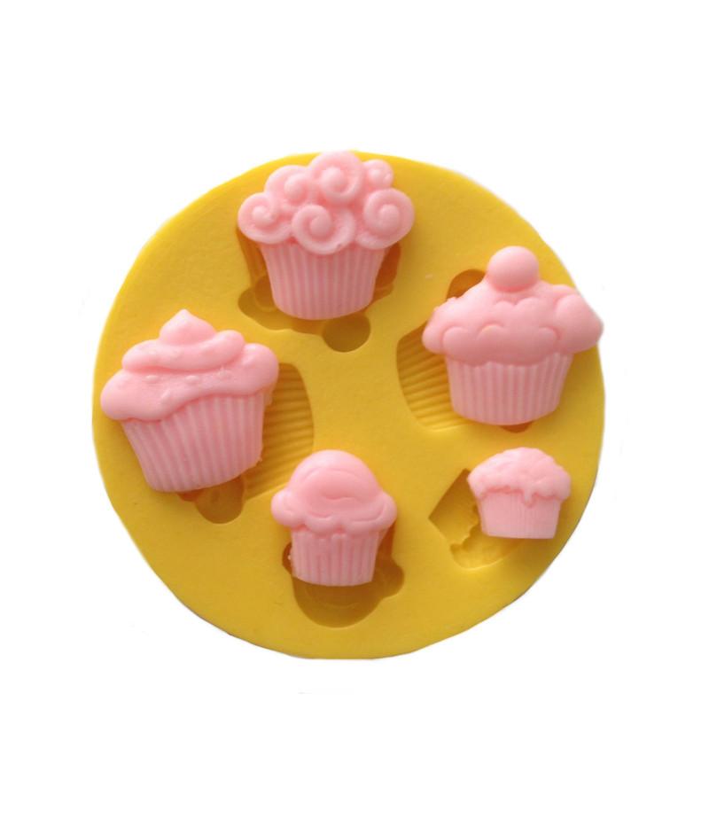 Silikon Cupcake Muffin Temali Kaliplar Sabun Kokulu Tas Mum Kaliplari