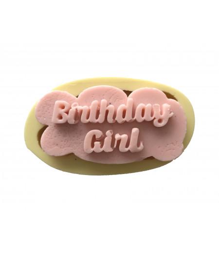 Silikon Doğum Günü Kızı El Yazılı Sabun Mum Kokulu Taş Kalıbı