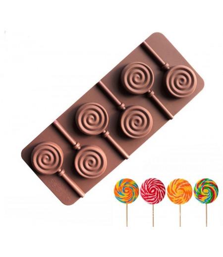 Silikon Elma Şekeri Çikolata ve Kokulu Taş Kalıbı