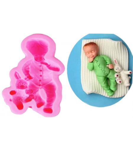 Silikon Erkek Bebek ve Ayicik Kalibi
