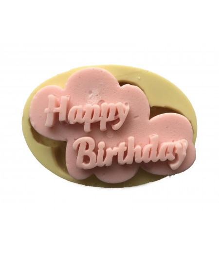 Silikon Happy Birthday Yazılı Sabun Mum Kokulu Taş Kalıbı