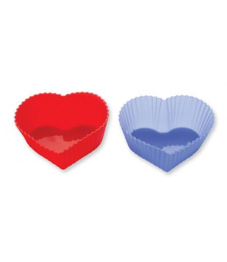 Silikon Kalp Figürlü Muffin Kalıp,6 Adet