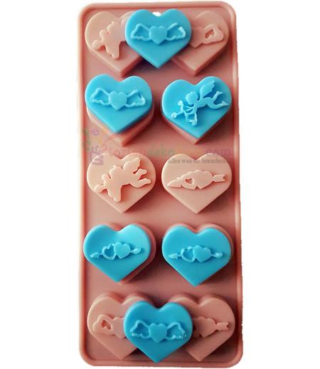 Silikon Kalp Icinde Melek Figurlu Kaliplar