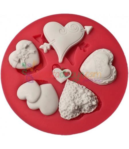 Silikon Kalp Kalıpları,2-5cm