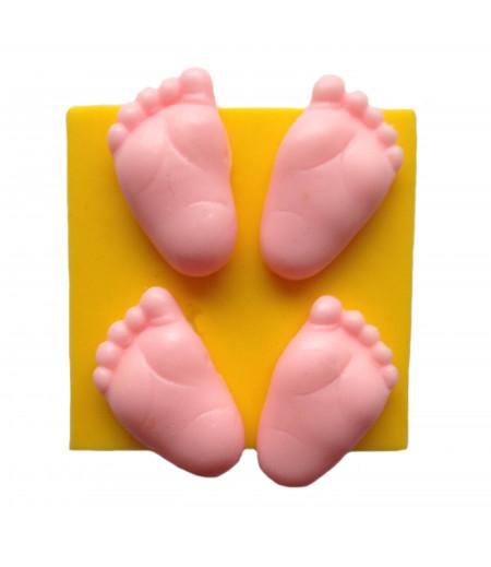 Silikon Mini Bebek Ayağı Kalıpları