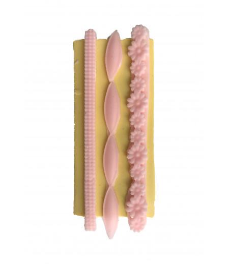 Silikon Pasta,Sabun,Kokulu Taş Dekoratif Kenar Kalıbı -14