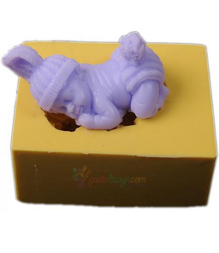 Silikon Ponponlu Erkek Bebek Kalıbı