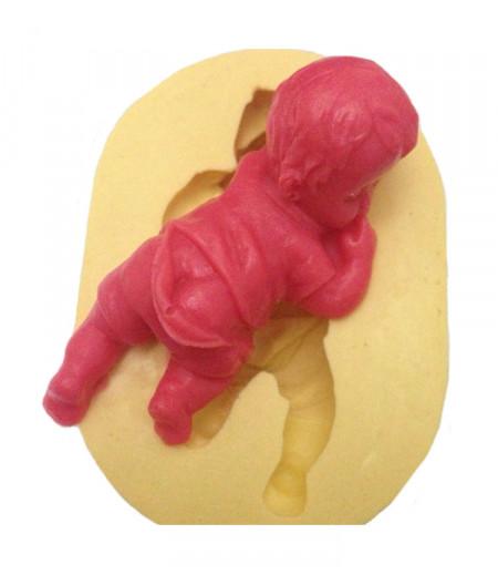 Silikon Yüz Üstü Yatan Bebek Kalıbı,5-7cm