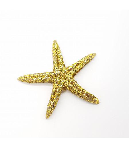 Simli Deniz Yıldızı Desenli Küçük Süsleme Altın