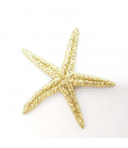 Simli Deniz Yıldızı Desenli Süsleme Altın