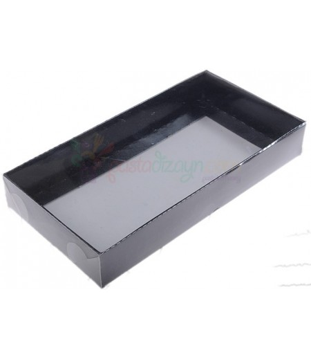 Siyah Renk Asetat Kutular,10x20x3cm