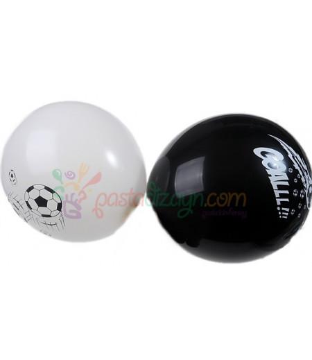 Siyah,Beyaz Balon Seti,12 Adet