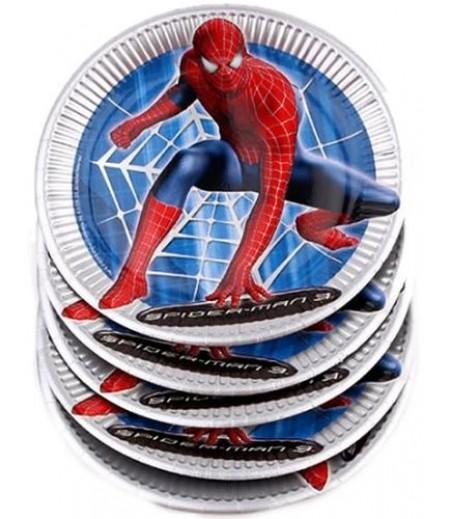 Spiderman,Örümcek Adam Parti Tabakları,8 Adet