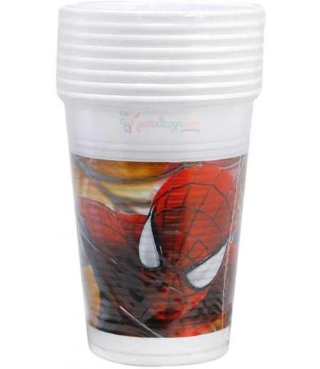 Spiderman,Örümcek Adam Bardaklar, 8 adet