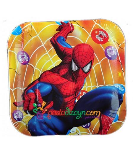 Spiderman,Örümcek Adam Kağıt Tabaklar, 8 adet
