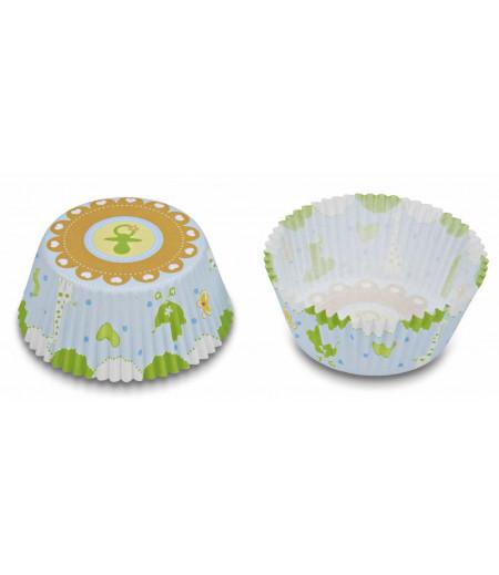 Stadter,Yeşil Emzik Temalı Muffin Kapsülü,50 Adet,5x3cm