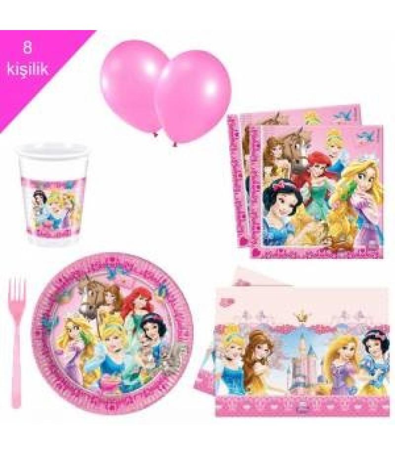 standart doğum günü pamuk prenses konsept seti 8 kişilik