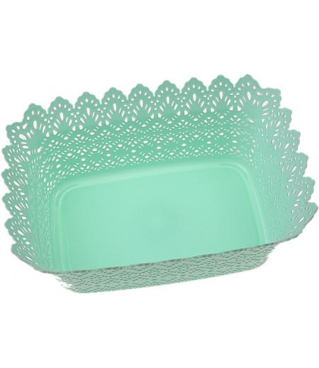 Su Yeşili Plastik Sunum Sepeti
