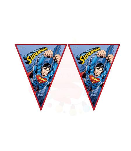 Superman Görselli Kağıt Flama