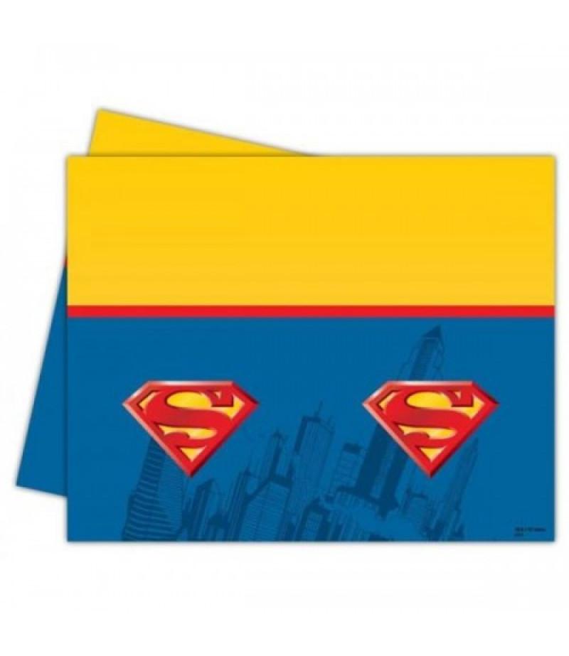 Superman Görselli Kağıt Masa Örtüsü,120x180 cm