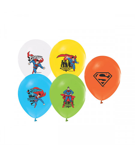 Superman Renkli Balon Seti,12 Adet
