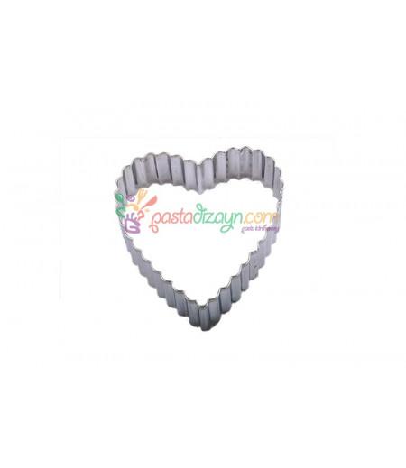 Tırtıklı Kalp Kurabiye Kalıbı,5.5cm