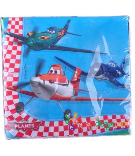 Uçaklar Figürlü Peçeteler