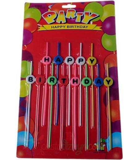 Renkli Uzun Happy Birthday Mum Seti
