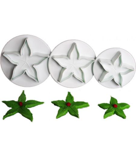 Yıldız Çiçeği Basmalı Kalıp,1.5,2.5,3.5cm çaplarında
