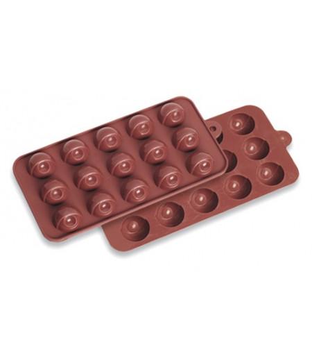 Yarım Dünya Çikolata Kalıbı,11x22cm