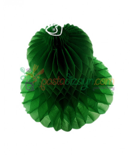 Yeşil Renk Çan Şeklinde Petek Fener,20cm