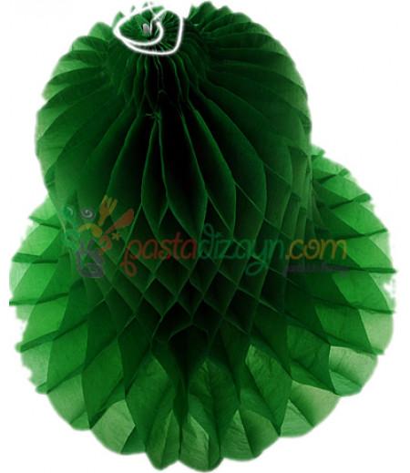 Yeşil Renk Çan Şeklinde Petek Fener,30cm