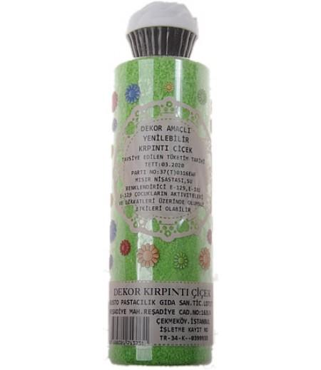 Yeşil Renk Gofret Yenilebilir Kırpıntı Süslemeler