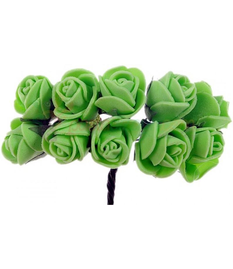 Yeşil Renk Güller Süsleme Cicekleri,2 Demet