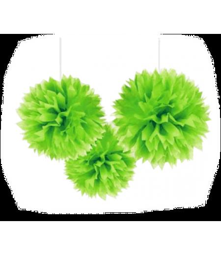 Yeşil Renk Küçük Boy Ponpon,Adet