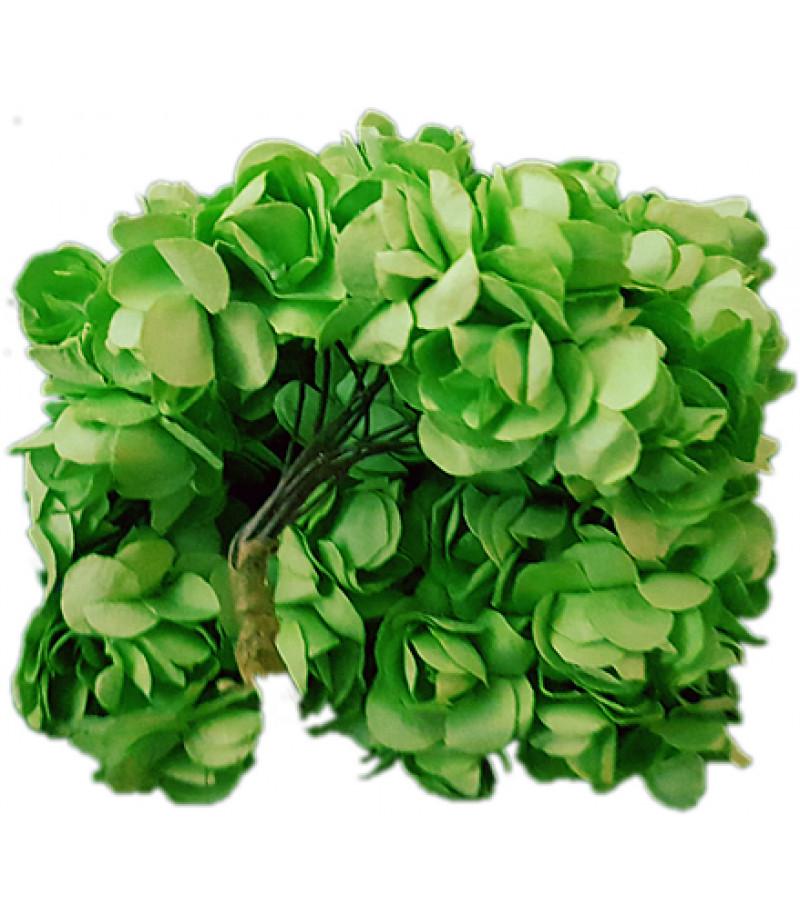 Yeşil Renk Mini Güller Süsleme Cicekleri,2 Demet