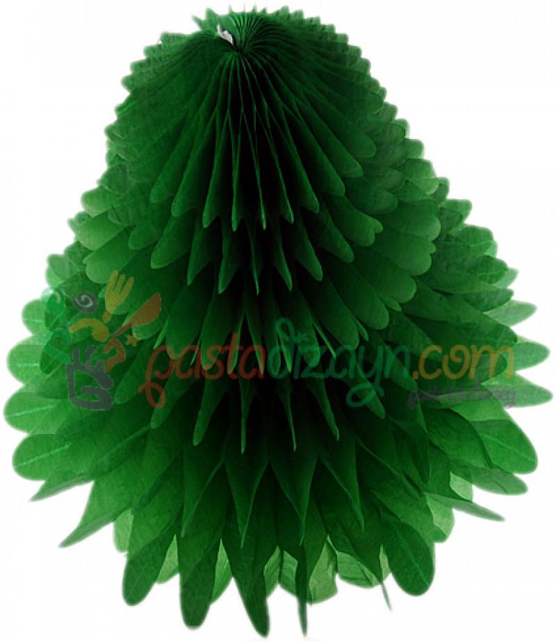 Yeşil Renk Petek Üçgen Asma Süs,30cm