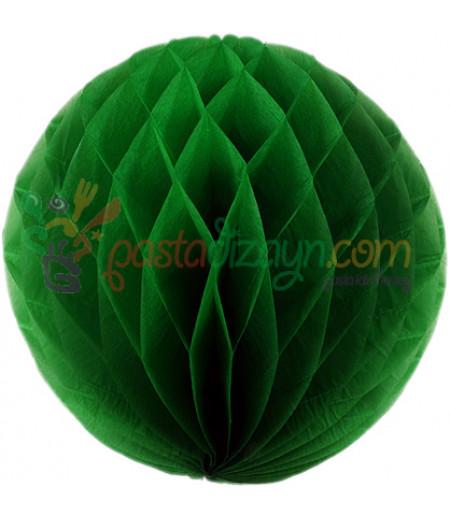 Yeşil Renk Petek Parti Süslemesi,30cm