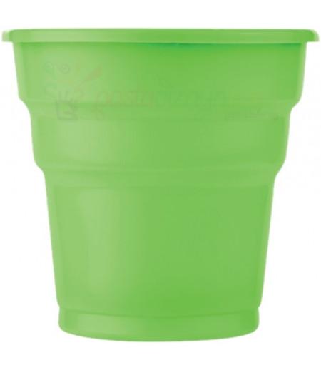 Yeşil Renk Plastik Bardaklar,25 adet