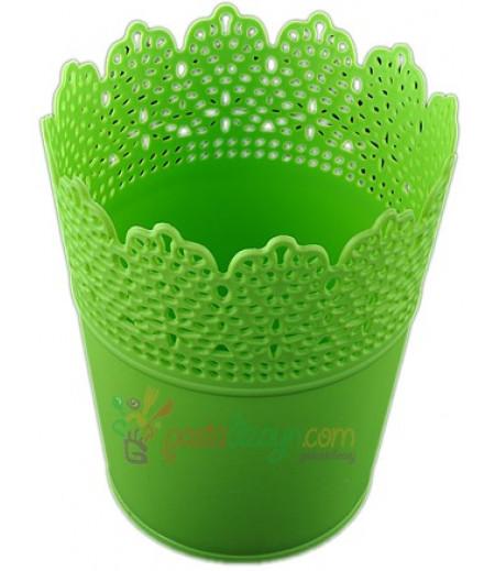 Yeşil Renk Plastik Sunum Kovası