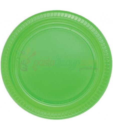 Yeşil Renk Plastik Tabaklar,25 adet
