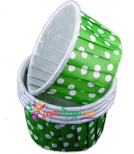 Yeşil Renk Yağlı,Puantiyeli Kapsüller,25 Adet