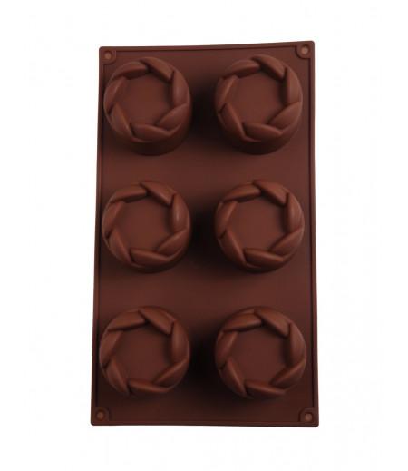 Yuvarlak Döngüsel Çikolata,Sabun,Kokulu Taş Kalıbı-2