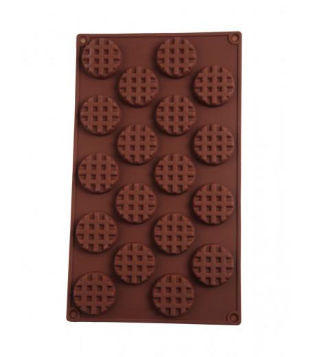 Yuvarlak Izgara Çikolata,Sabun,Kokulu Taş Kalıbı
